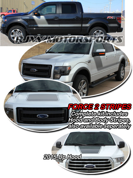 Force 2 Stripes for F150 2009-Up