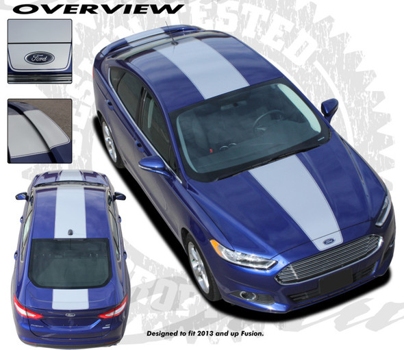 Center Stripes for 2013-Up Ford Fusion