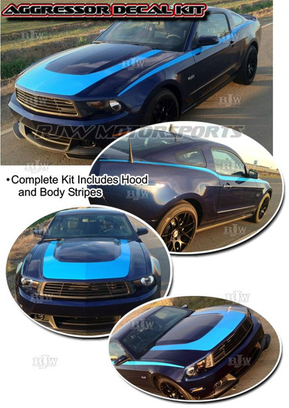 Aggressor Decal Kit for '10-'12 Mustang