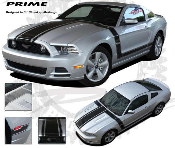 Boss 302 Style Stripes for 2013-14 Mustang - Prime Kit 1