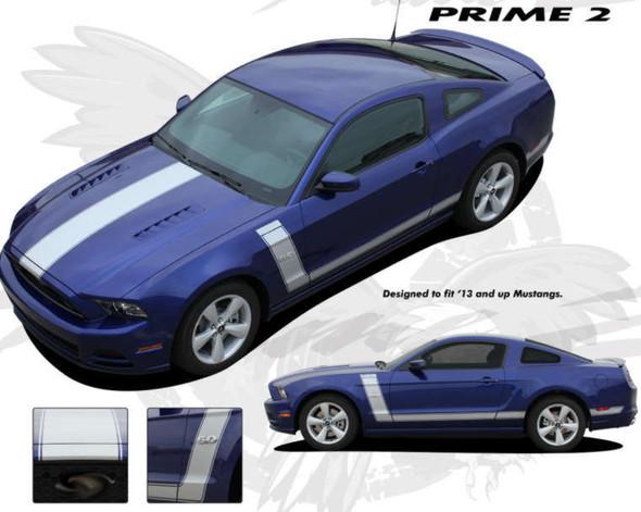 Boss 302 Style Stripes for 2013-14 Mustang - Prime Kit 2