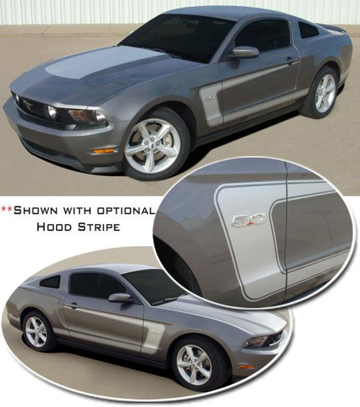 C-Stripe - Reverse for 2010-2014 Mustang