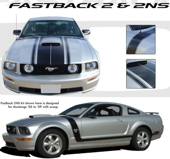 Fastback Stripes - 05-09 Mustang