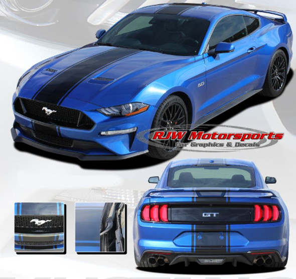 Hyper Rally Stripes for 2018-Up Mustang