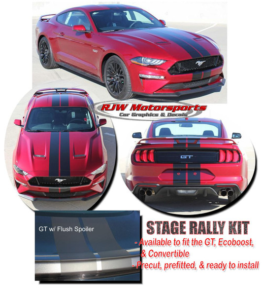 Racing Stripes for 2018-Up Mustang