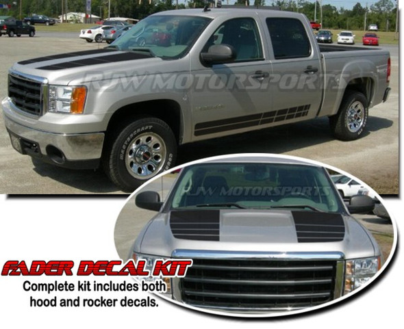 Fader Decal Kit for 07-13 Sierra