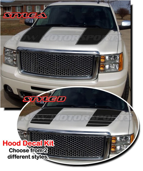Hood Stripes for 07-13 GMC Sierra