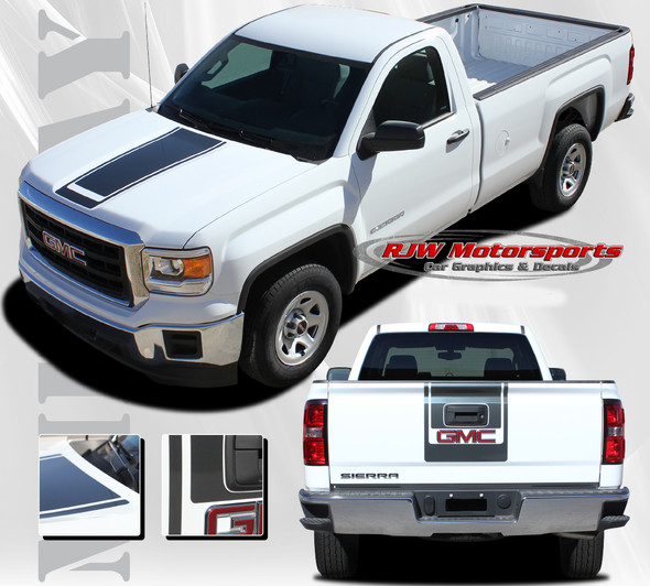 Midway Stripes for 2014-2018 GMC Sierra