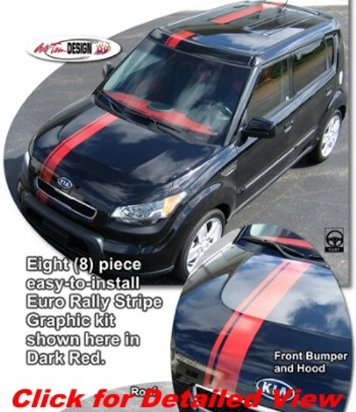 Euro Rally Stripes for Kia Soul '08-'19