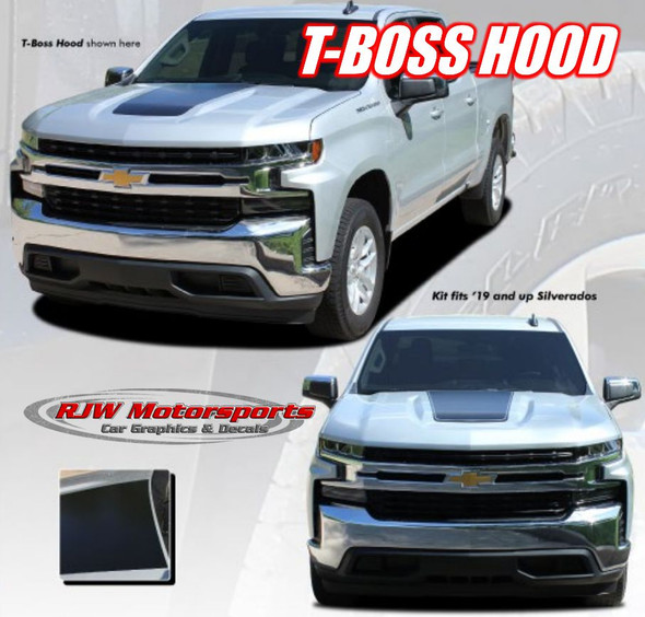 2019-2021 Silverado Trailboss Hood Stripes