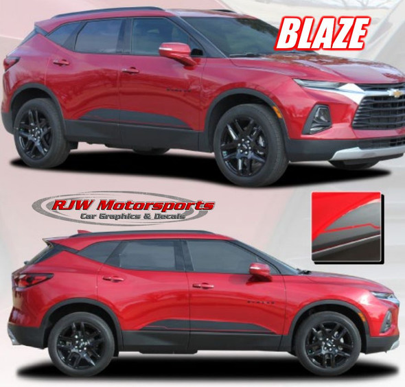"2019-Up Chevy Blazer ""Blaze"" Rocker Stripes"