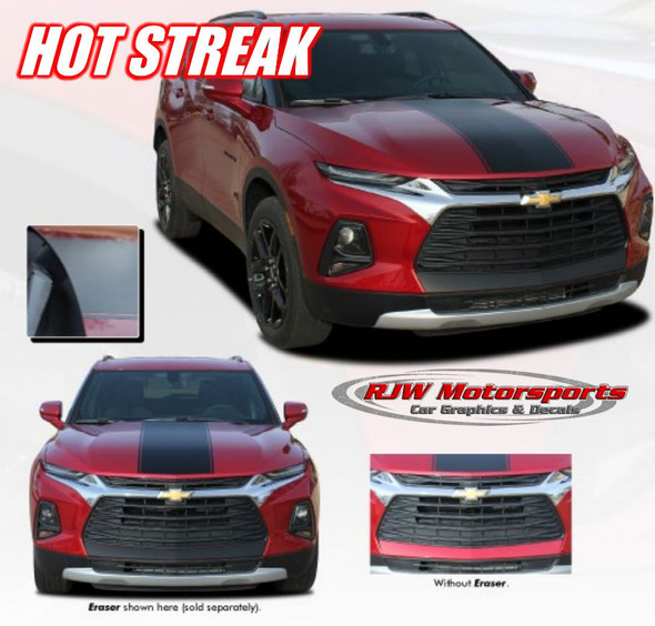 Blazer Hot Streak Hood Decal