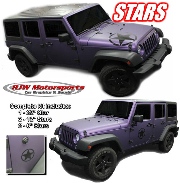 Jeep Stars Decals