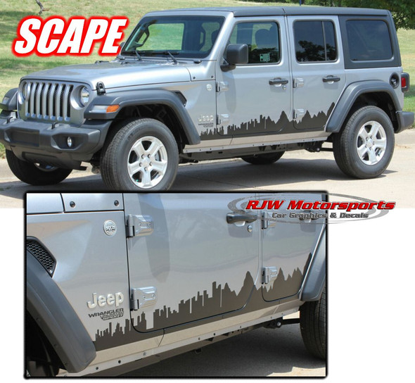2018-Up Jeep Wrangler Scape Side Decal