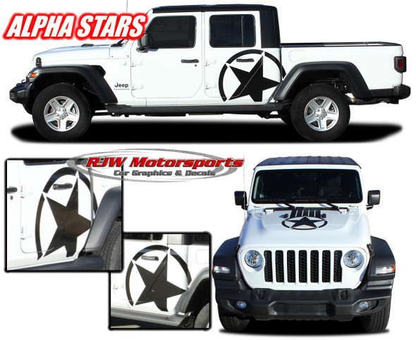 2020-Up Jeep Gladiator Alpha Stars Decals
