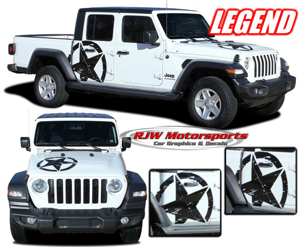 2020-Up Jeep Gladiator Legend Stars Decals