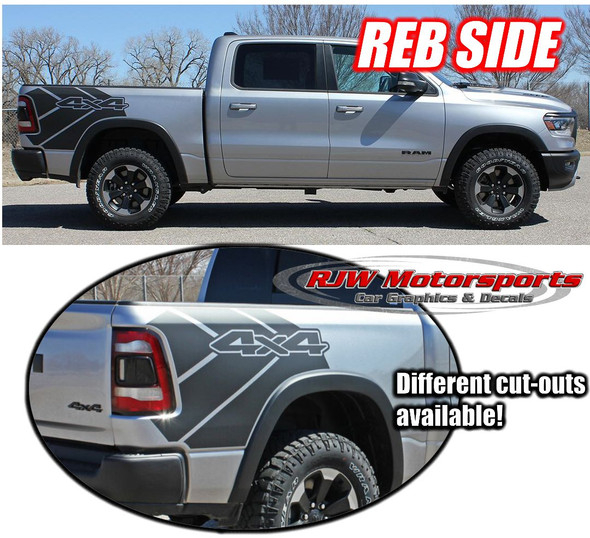 2019-Up Dodge Ram Rebel Bed Decals