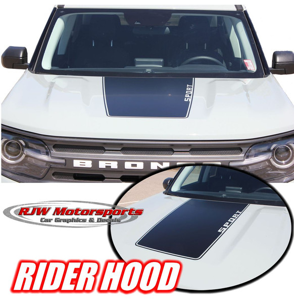 2021-Up Ford Bronco Sport Rider Hood Stripe