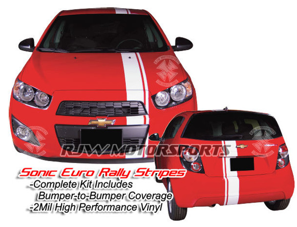 Euro Style Rally Stripes for Chevy Sonic