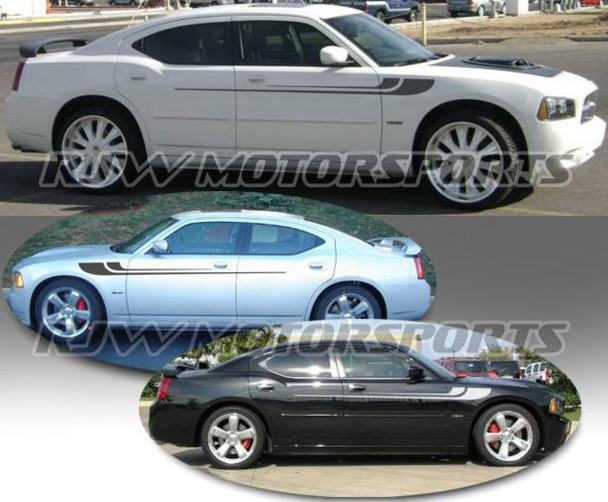 Dodge Charger Hockey Stripes - Reverse