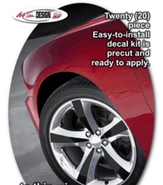"""Factory 20"""" Wheels Decal Kit for '11 Charger"""