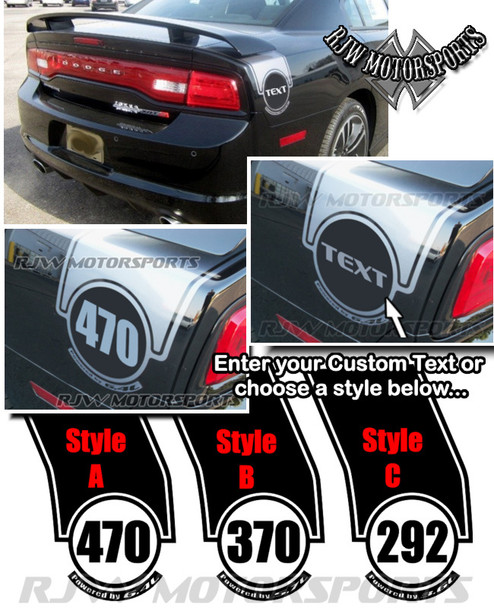 Super Bee Style Trunk Stripes for 2011-14 Dodge Charger