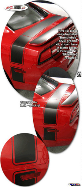 Trunk Bumblebee Style Stripes for 2011-2014 Dodge Charger