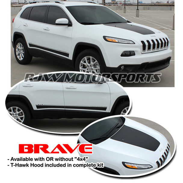 Brave Decal Kit for '14-Up Jeep Cherokee