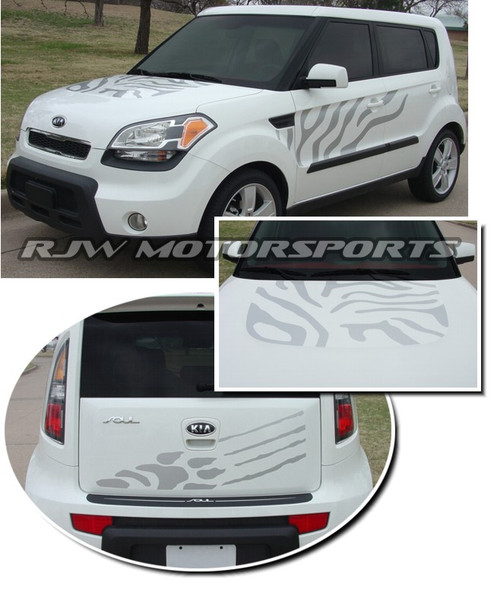 Tiger Style Decals for Kia Soul