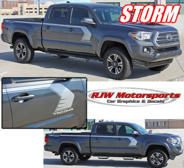 2016-Up Toyota Tacoma Storm Side Decals