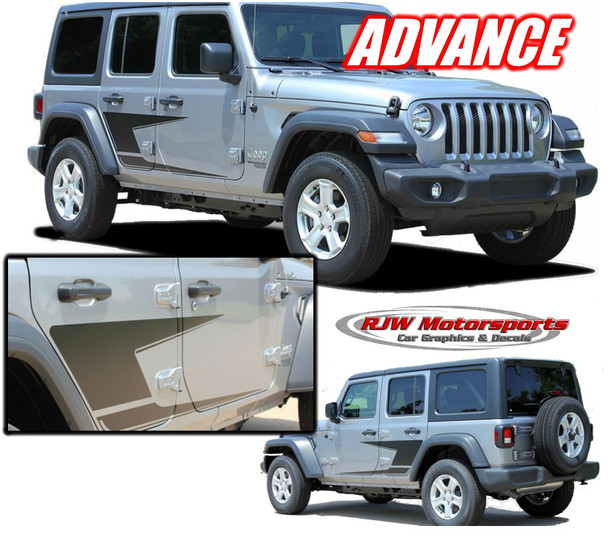 2018-Up Jeep Wrangler Advance Side Decal