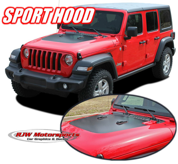 2018-Up Jeep Wrangler Sport Hood Decal