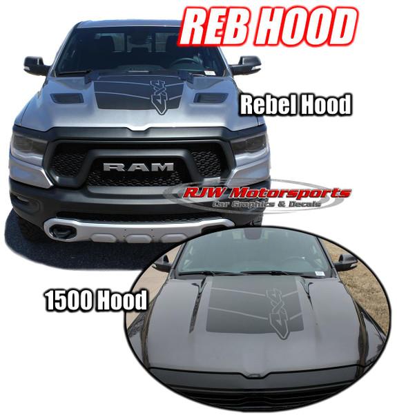 2019-Up Dodge Ram Hood Decal