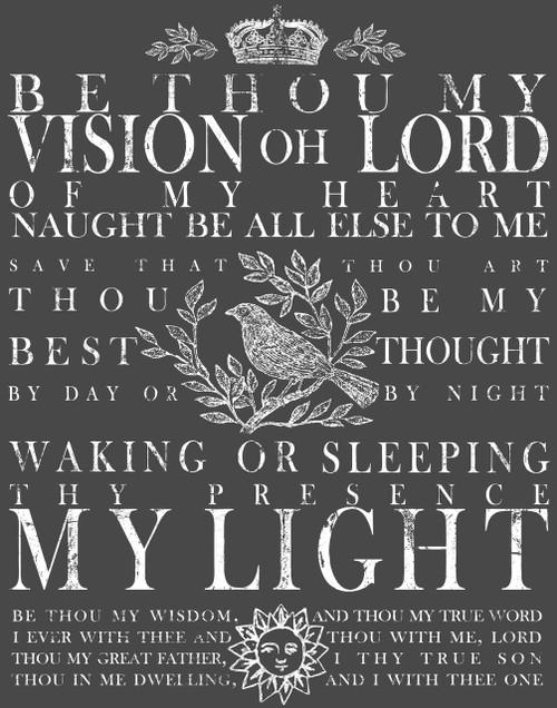 Be Thou My Vision 11x14 Decor Transfer