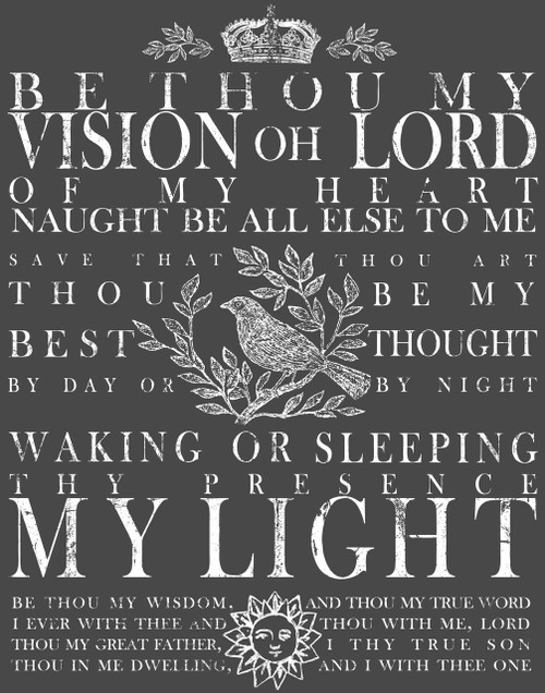 Be Thou My Vision 11x14 Decor Transfer