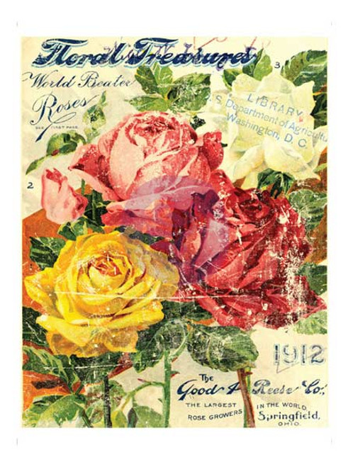 11X14 Floral Treasures Decor Transfer