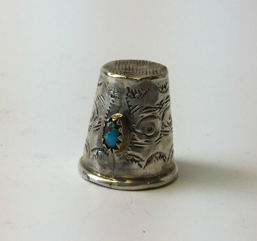 Vintage Navajo Crafted Sterling Thimble