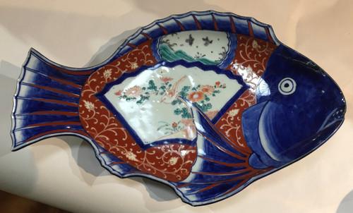 19th Century Imari Fish Plate