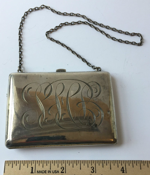 Vintage Sterling Coin Purse Mongrammed SBH