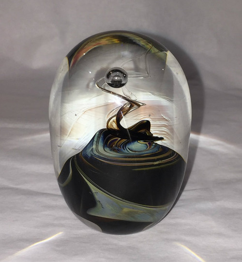 1989 Rebecca Stewart Art Glass Paperweight