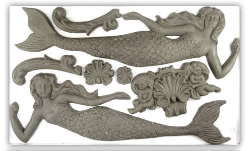Sea Sisters 6x10 Decor Moulds
