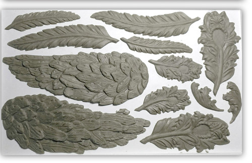 Wings And Feathers 6x10 Decor Mould