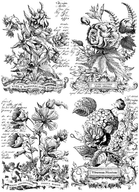 Classic Bouquets Paintable 24x33 Decor Transfer
