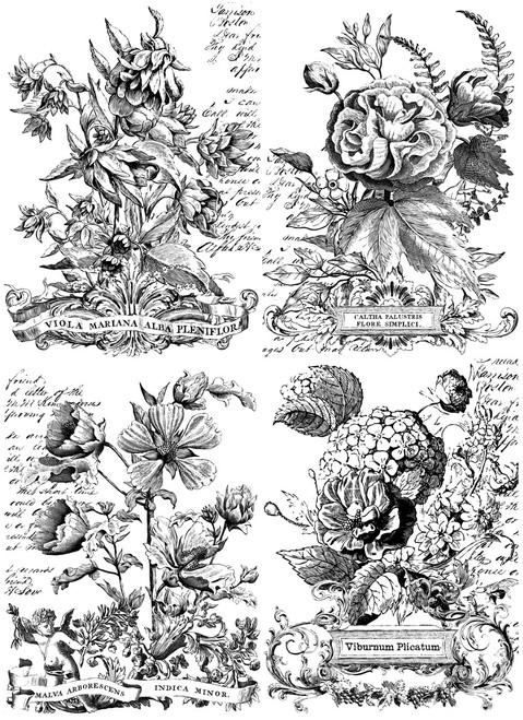 Classic Bouquets Paintable 24x33 Decor Transfer