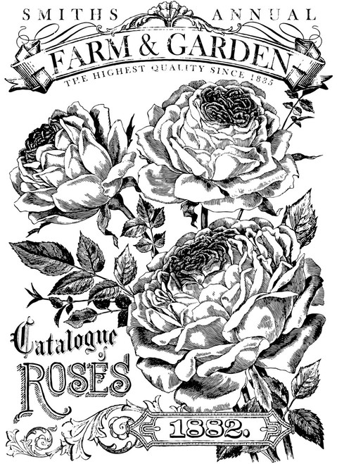 Catalog Of Roses 24x33 Paintable Transfer