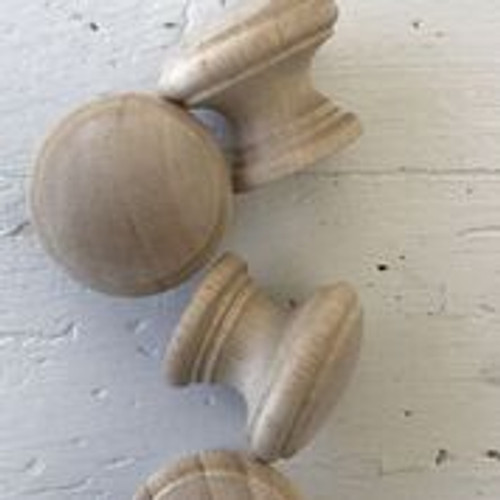 IOD Hardwood Knobs pkg of 4