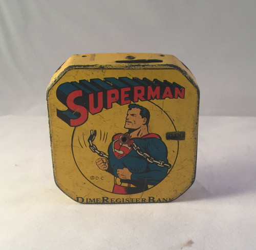 Ca1940 Superman Dime Register Bank