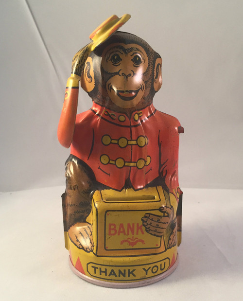 Ca1940 J Chein Tin Litho Monkey Bank