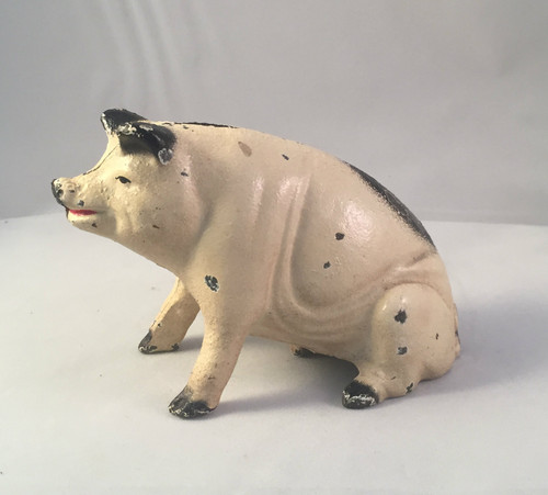 Antique A C Williams Cast Iron Pig Bank