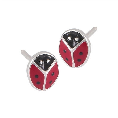 Sterling Silver Ladybug Earring 1309